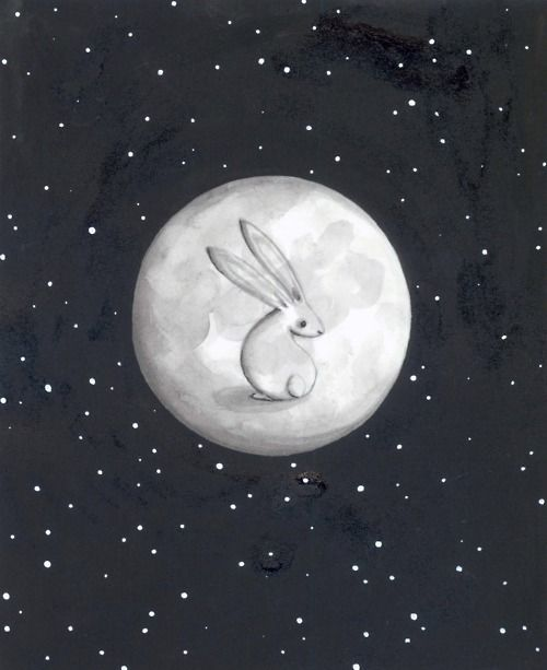 RABBIT MOON . Folklore: a rabbit that lives on the moon .