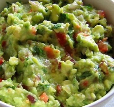 Chunky Guacamole with cilantro