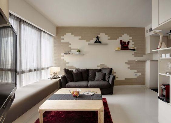 Wohnzimmer und Kamin  wohnung einrichten wohnzimmer grau - schlafzimmer mit dachschräge farblich gestalten