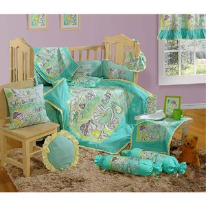 Swayam Complete Baby Crib set 7 Pieces - Bottle Green