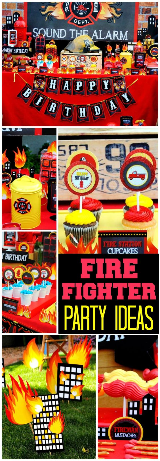 Wow, what an awesome fireman party! You have to see this! See more party ideas at CatchMyParty.com!