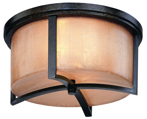 Troy Lighting C1742 Austin 2 Light Flush Mount Ceiling Fixture Antique Bronze Indoor Lighting Ceiling Fixtures Flush Mount