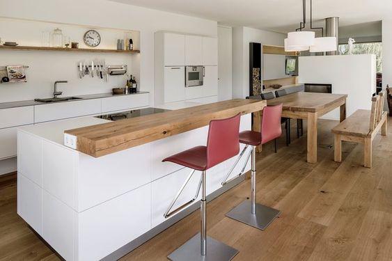 Kochinsel mit Theke aus Massivholz IKEA hacking Pinterest - küche mit theke