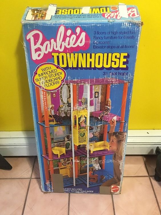 Vintage Barbie Townhouse 1975 Complete With Instructions - Cardboard Floors
