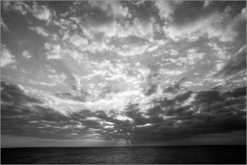 "Bild von Douglas Peebles - ""Sunset over ocean"""