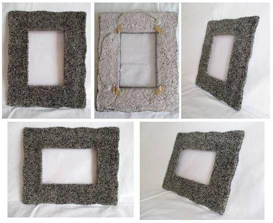 Cornice cartapesta modellata rivestita con granuli neri for Carta per cartapesta