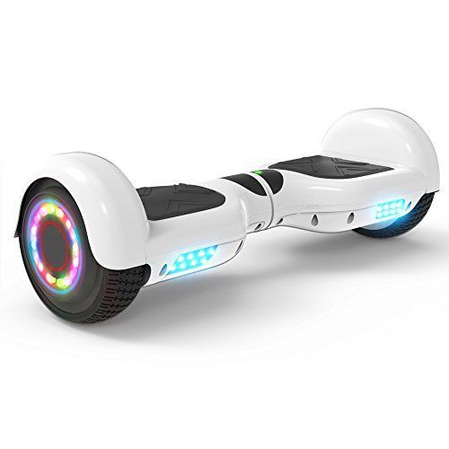 Spadger Hoverboard 6.5 Self Balancing Hoverboard with Bluetooth and Lights UL2272 Certified Hover Board Electric Scooter for Kids Adult