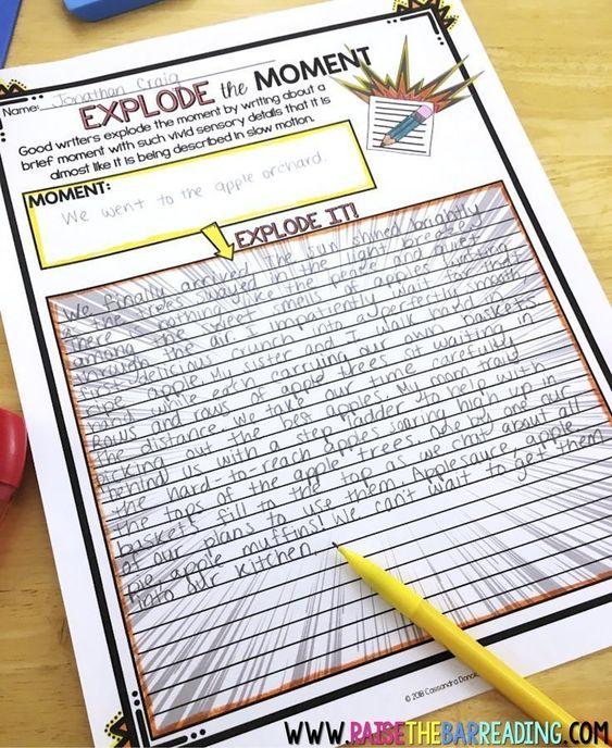 How I Teach Explode The Moment Writing Homeschool Writing Middle School Writing Third Grade Writing