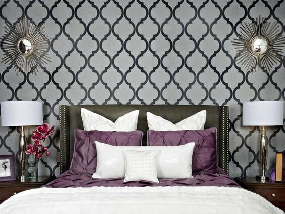 Awesome Wonder If Theres Chevron Wallpaper ? Chevron Bedroom. Gray And Purple | My  Home Style | Pinterest | Chevron Wallpaper, Bedrooms And Purple