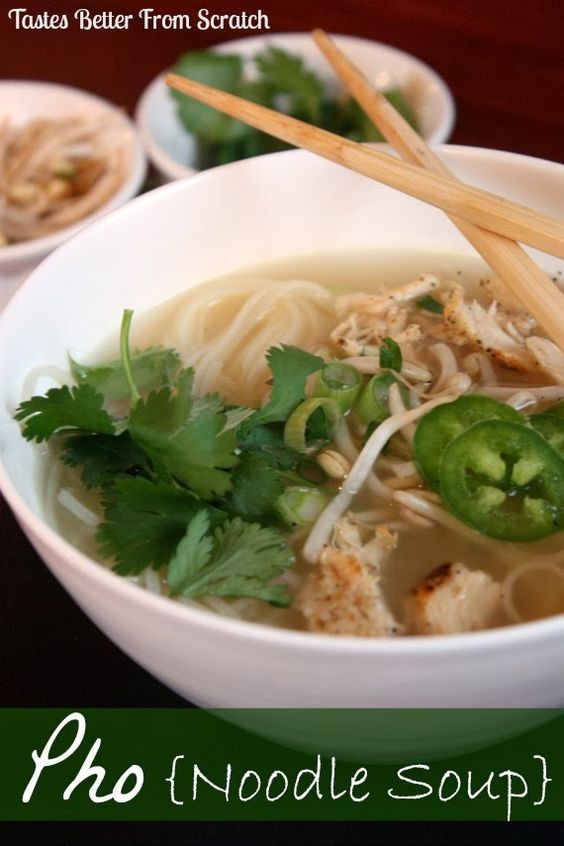 Pho noodle soup for the chicken pho and soups for Asian cuisine and pho