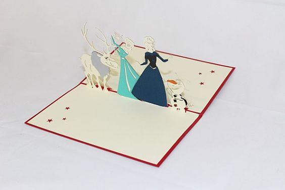 3D Frozen Pop Up Card Pop Up  Greeting Card by GreetingAllSeasons