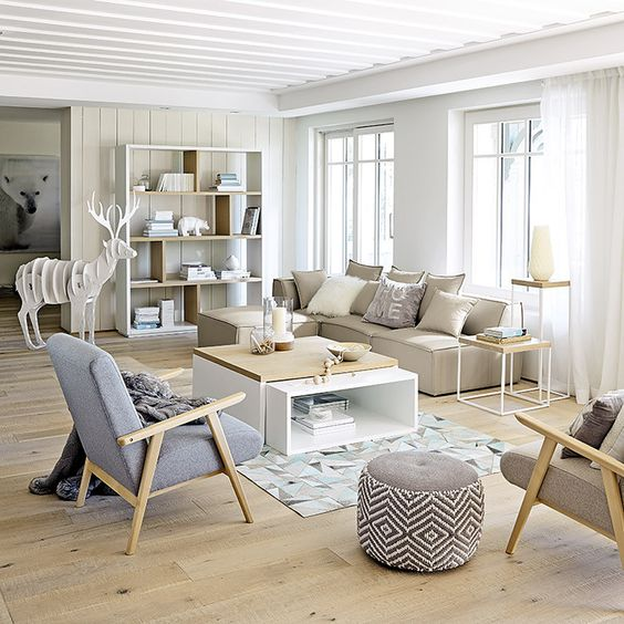 Meubles d co d int rieur contemporain maisons du monde d co salon pinterest for Deco maison moderne blanc
