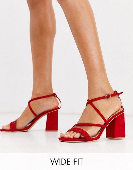 RAID Wide Fit Carla block heeled