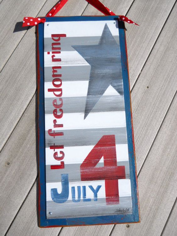 4th of July Sign by DebHrabikDesigns on Etsy, $32.00