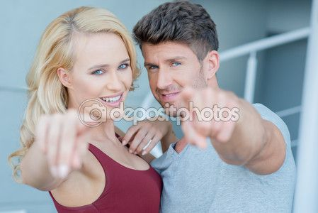 couple pointing at camera - Google Search