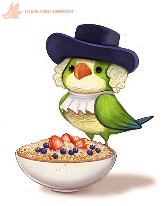Daily Paint #1179. Quaker Oats Parrot by Cryptid-Creations.deviantart.com on @DeviantArt