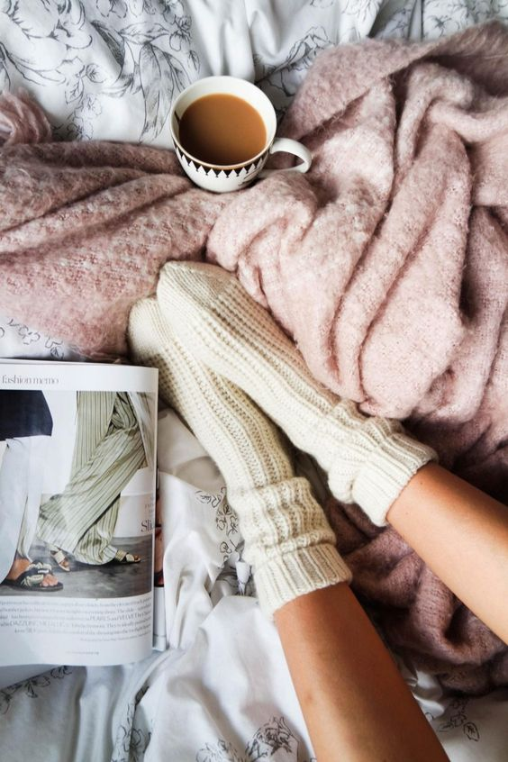 Tea, magazines, soft socks & fluffy blankets sounds like the perfect day.