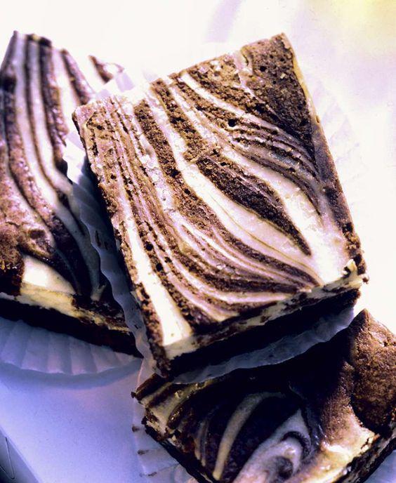 Zebra-Brownies |  http://eatsmarter.de/rezepte/zebra-brownies