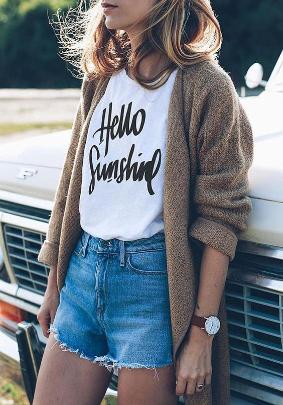 Hello Sunshine T-Shirt Boho Style T-Shirt Ladies Slogan Top blusa tumblr girl t shirt tops aesthetic shirt fashion T shirt - Boho Gipsy Store
