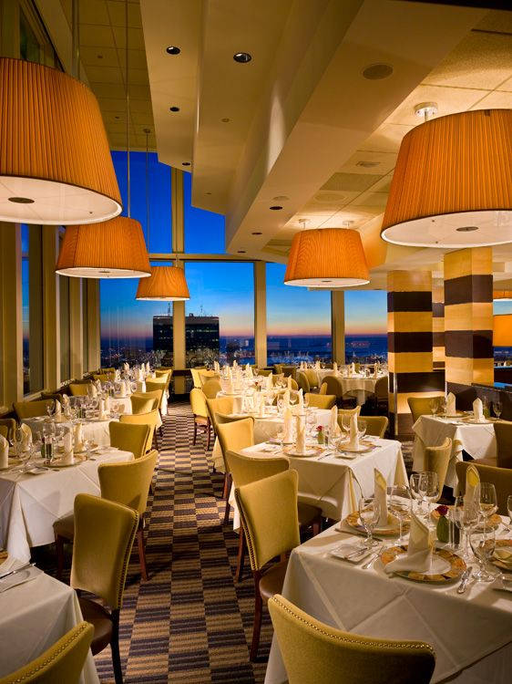 Must visit the Top Of The Hub Restaurant in the Prudential Center