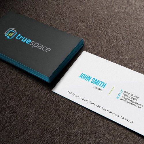Unique Business Card For A Mobile App Company Truespace Is A Web Based Platform And Mob Unique Business Cards Business Card Design Creative Mobile App Company