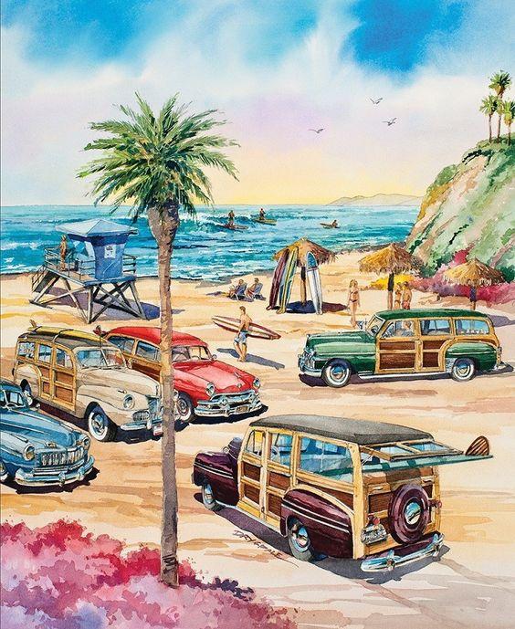 California Dreams: Encinitas (1000 Piece Puzzle by LPF)