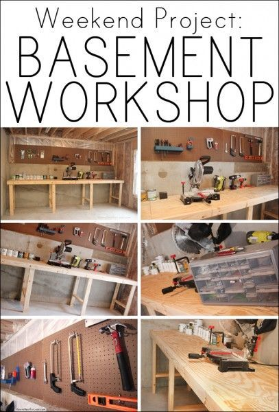 How to create a basement workshop. I need one of these!