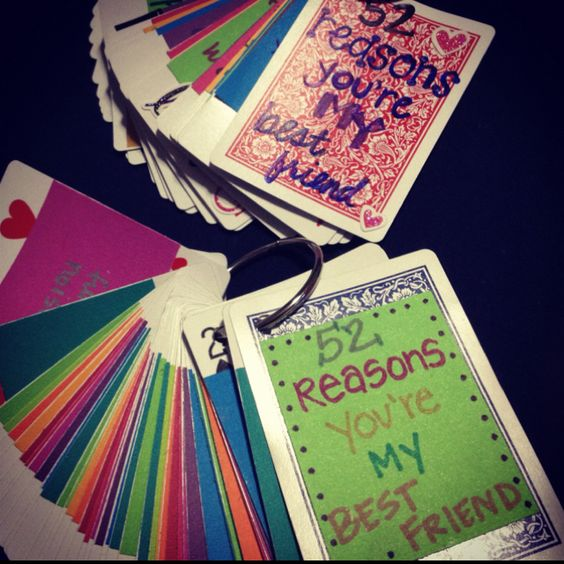 Best Friend V-day Gift, DIY, 52 Reasons You're My Best