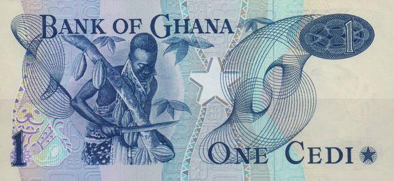 Ghana, One Cedi Banknote, 1976. (reverse)