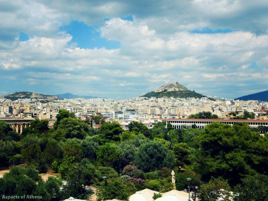 The view from Chocolat cafe:Lycabettus Hill