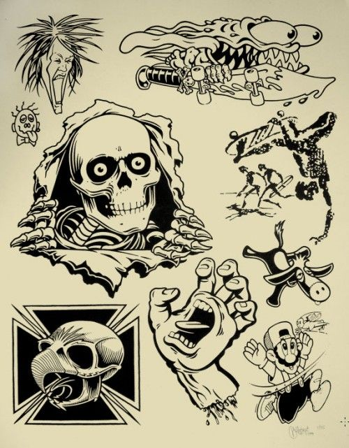 Image result for real skateboards limited 4q deck tattoo flash