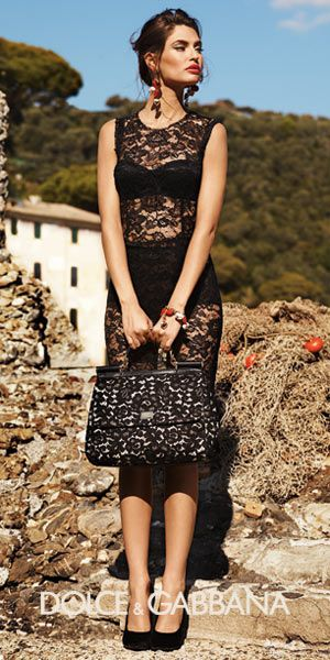 D&G dress: Black Lace, Dolce Gabbana, Dolce & Gabbana, Dolce And Gabbana, Black Dress, Gabbana S, Lace Dresses, Bianca Balti