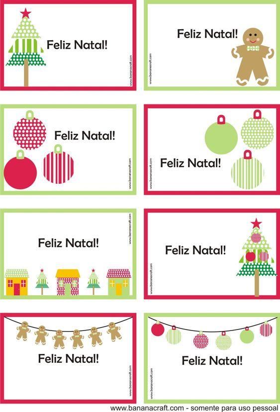 cartoes de natal para imprimir: