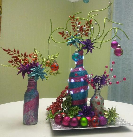 Christmas Lunch Centerpieces And Grinch On Pinterest