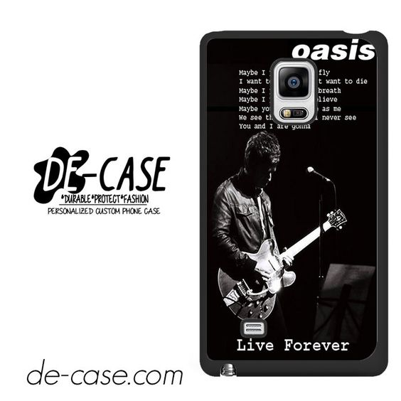 Oasis Live Forever Noel Gallagher Lyrics DEAL-8066 Samsung Phonecase Cover For Samsung Galaxy Note Edge