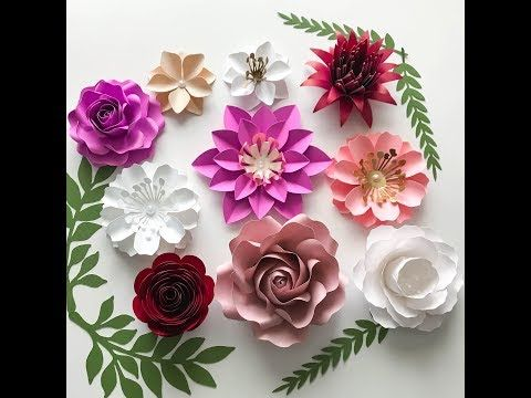 How To Assemble Quick And Easy To Make 4 Different Designs Tiny Paper Flowers Youtube Paper Flowers Paper Flower Tutorial Paper Flowers Wedding