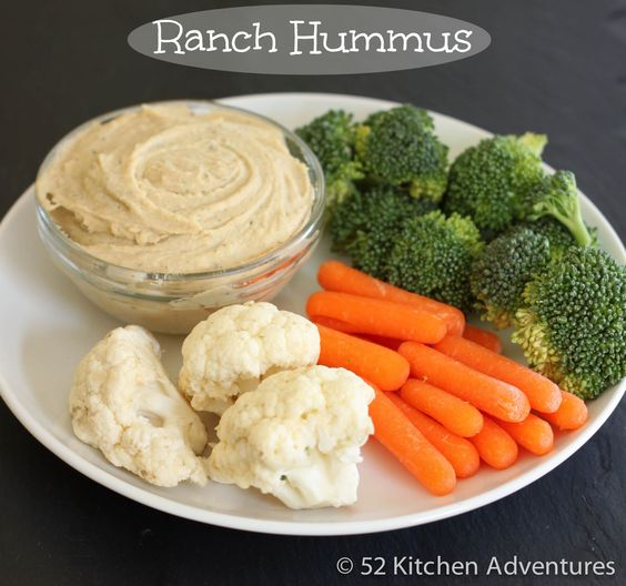 Ranch Hummus, plus a trick to make the smoothest hummus you've ever had! #RanchRemix
