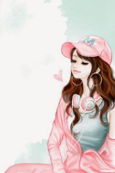 Whatsapp Dp Cute Cartoon Girl Girly Images Cartoon Girl Images