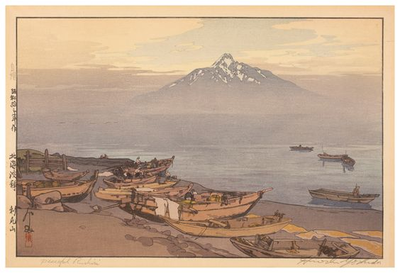 Yoshida Hiroshi Hokkai Hasei: Rishiri San [Calm Waters of the North Sea: Mount Rishiri] 1938