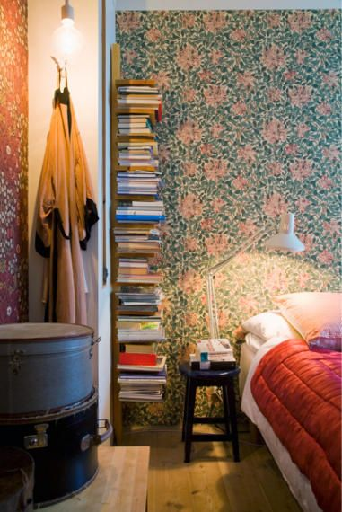 Book storage.. sometimes my bedside table looks like this anyway!