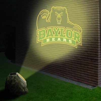 #Baylor Bears Solar-Powered Projection Rock // For your yard? Night game tailgating?