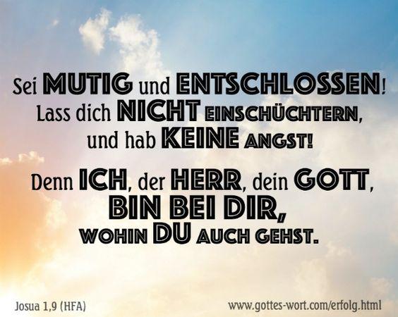 Unternehmung und Erfolg  ... Josua 1,9 http://www.gottes-wort.com/erfolg.html