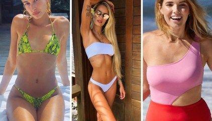 Moda Praia Verão 2020 em 9 super tendências em 86 fotos + Famosas de Biquínis