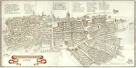 Plano de Albacete alta definición año 1767
