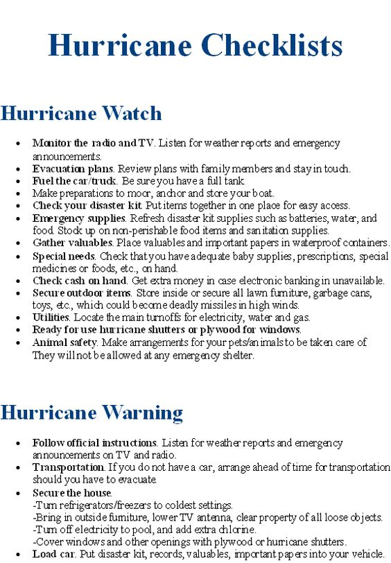 12 best Safety plans images on Pinterest Hurricane preparedness - safety plans