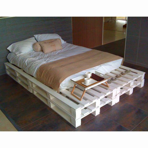 Paletten Bettidee   diy Zimmer   Pinterest   Betten, Einfach und Bänke
