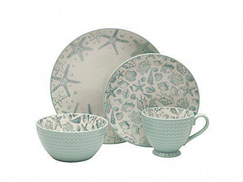 Pfaltzgraff Venice 16 Piece Stoneware Dinnerware Set Service For