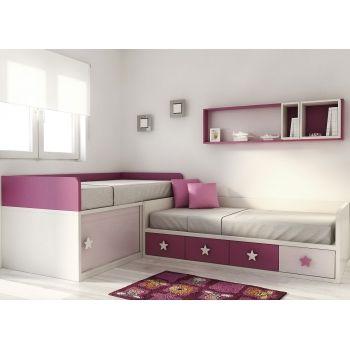 008 habitaci n juvenil cama alta con puertas correderas y
