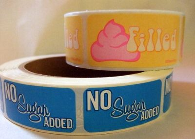 $6.50 Cute to add on top of to go boxes Bakery Label Roll 500ct