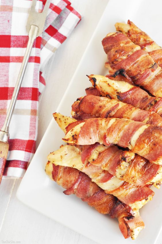 Bacon Wrapped Chicken Tenders | The Chic Site
